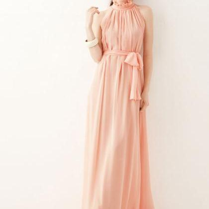 Elegant Chiffon Ruffled Sleeveless ..