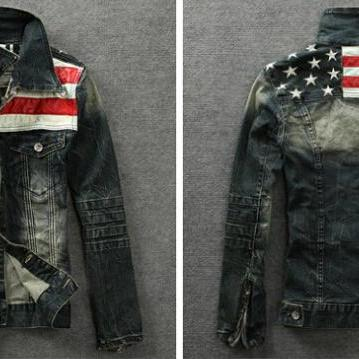 Mens Fashion American Flag Pattern ..
