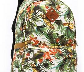 Printed canvas leisure travel bag, backpack