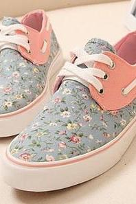 Floral Canvas Fashion Flat Shoes