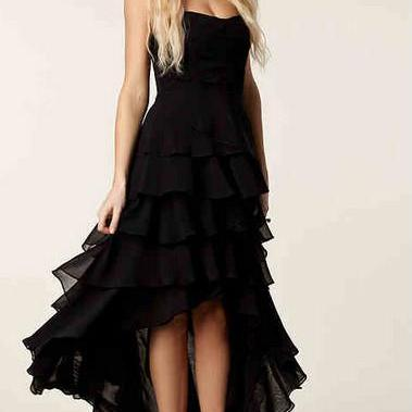 Asymmetrical chest wrapped chiffon skirt long section of European and American women dress banquet
