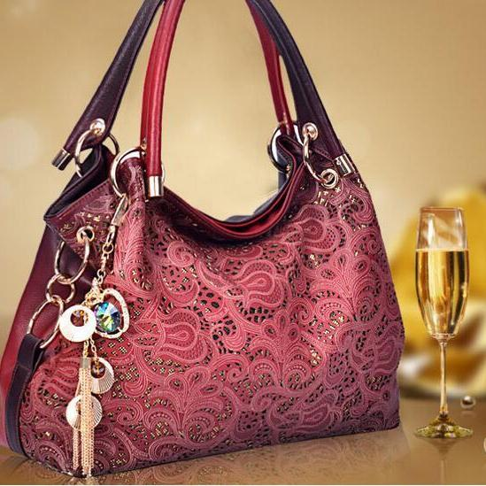 Fashion hollow handbags ladies shoulder diagonal package